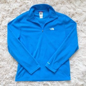 Men's North Face TKA 100 Quarter Zip Blue